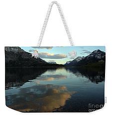 Waterton Lake Sunset Canada Weekender Tote Bag by Vivian Christopher