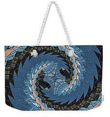 Weekender Tote Bag featuring the photograph Wave Mosaic. by Clare Bambers