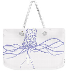 Weekender Tote Bag featuring the digital art Waveflower by Kevin McLaughlin