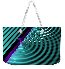 Waves Two Slit 3 Weekender Tote Bag