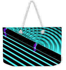 Waves Two Slit 4 Weekender Tote Bag