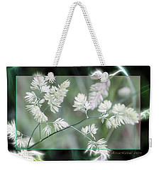 Weekender Tote Bag featuring the photograph Weeds by EricaMaxine  Price