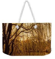 Weeping Willow And Bridge Weekender Tote Bag