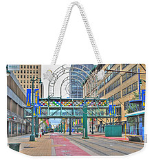 Weekender Tote Bag featuring the photograph Welcome No 2 by Michael Frank Jr