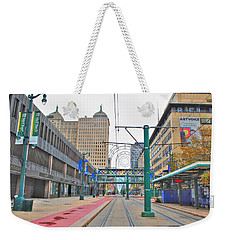 Weekender Tote Bag featuring the photograph Welcome To Dt Buffalo by Michael Frank Jr
