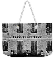 Weekender Tote Bag featuring the photograph Welcome To The Hotel Milano by Andy Prendy