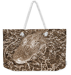 Welcome To The Swamp - Sepia Weekender Tote Bag by Carol Groenen