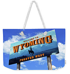 Welcome To The West Weekender Tote Bag