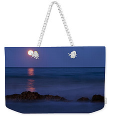 Wells Beach Maine Moonrise Weekender Tote Bag