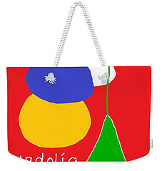 Weekender Tote Bag featuring the digital art Welsh Christmas Card by Barbara Moignard