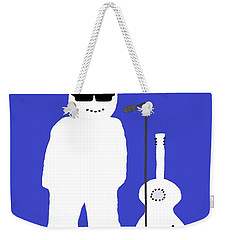 Weekender Tote Bag featuring the digital art Welsh Snowman Musician by Barbara Moignard