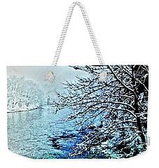West River Snow Weekender Tote Bag