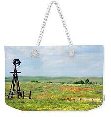 Western Kansas Wooden Windmill  Weekender Tote Bag by Michael Flood