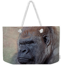 Western Lowland Gorilla Weekender Tote Bag by Betty LaRue