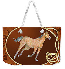 Western Roundup Running Horse Weekender Tote Bag