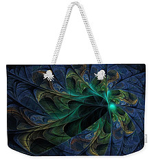Weekender Tote Bag featuring the digital art What Is Given Here by NirvanaBlues
