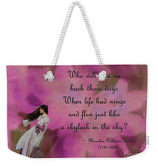 When Life Had Wings Weekender Tote Bag