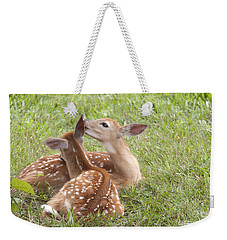 Whispering Fawns Weekender Tote Bag by Jeannette Hunt
