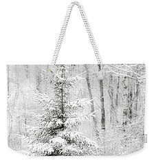 Whispers The Snow Weekender Tote Bag by Angie Rea
