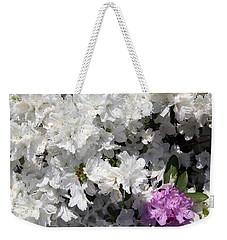 White Azalea Weekender Tote Bag