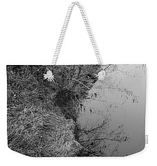 Weekender Tote Bag featuring the photograph White Branch Riverside  by Kathleen Grace