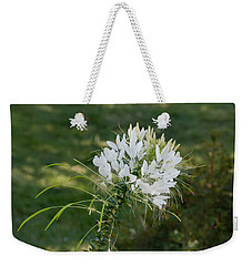 White Cleome Weekender Tote Bag by Michael Bessler