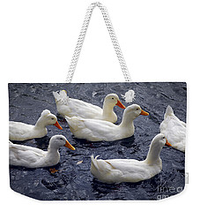 White Ducks Weekender Tote Bag by Elena Elisseeva