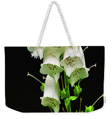 White Foxglove Weekender Tote Bag by Albert Seger