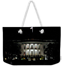 Weekender Tote Bag featuring the photograph White House In December by Suzanne Stout