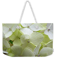 Weekender Tote Bag featuring the photograph White Hydrangea by Barbara Moignard