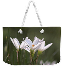Weekender Tote Bag featuring the photograph White Lily - Symbol Of Purity by Ramabhadran Thirupattur