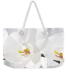 White Orchid Weekender Tote Bag by Cindy Lee Longhini