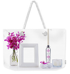 White Picture Frame In Decoration Weekender Tote Bag