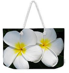 White Plumerias Weekender Tote Bag