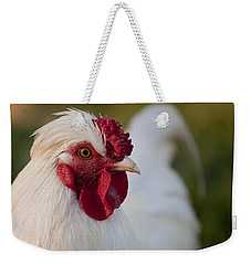 White Rooster Weekender Tote Bag by Michelle Wrighton