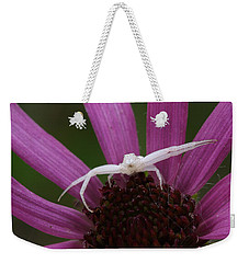 Whitebanded Crab Spider On Tennessee Coneflower Weekender Tote Bag by Daniel Reed