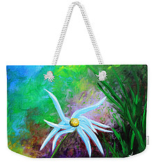 Weekender Tote Bag featuring the painting Wild Daisy 2 by Kume Bryant