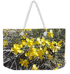 Weekender Tote Bag featuring the photograph Wild Desert Flowers by Kume Bryant