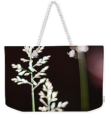 Weekender Tote Bag featuring the photograph Wild Grass by Andy Prendy