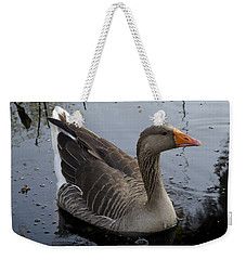Weekender Tote Bag featuring the photograph Wild Greylag Goose by Lynn Palmer
