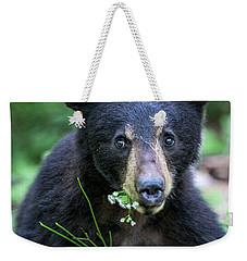 Wildflower Bear Weekender Tote Bag by Ronald Lutz