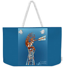 Windmill Rust Orange With Blue Sky Weekender Tote Bag