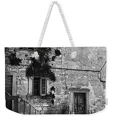 Weekender Tote Bag featuring the photograph Crumbling In Croatia by Andy Prendy
