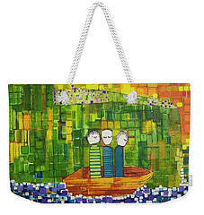 Weekender Tote Bag featuring the painting Wink Blink And Nod by Donna Howard