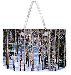 Weekender Tote Bag featuring the photograph Winter Aspens by Colleen Coccia