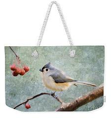 Winter Berries Weekender Tote Bag by Betty LaRue
