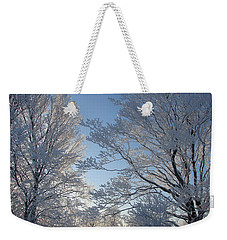 Winter Ice Weekender Tote Bag