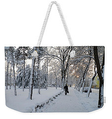 Weekender Tote Bag featuring the photograph Winter In Mako by Anna Ruzsan