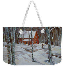 Winter In The Woods Weekender Tote Bag