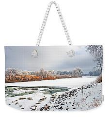 Winter Red River 2012 Weekender Tote Bag